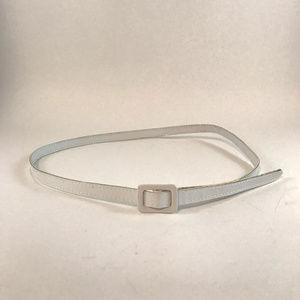 Accessories - Skinny White Vinyl Belt